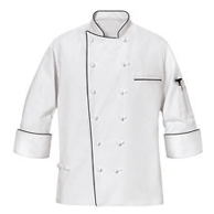 Egyptian Cotton Executive Chef Coat with Piping