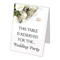 Full Color Table Tent Sign 6 Inch x 4 Inch